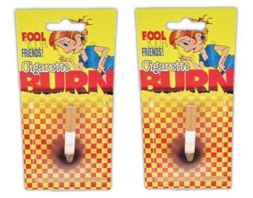 Funny Cigarette - 2 Count Fake Lit Cigarette Butt Burn Realistic Funny Joke Prank Gag Gift