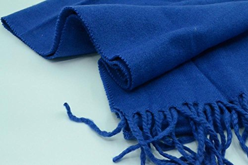 Easy-W Blue_Solid Scarf 72''X12'' Warm Winter Made in Scotland by Easy-W