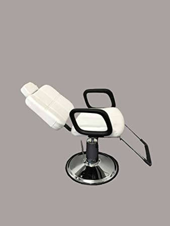 Sensational White Leather Reclining Hydraulic Barber Chair Styling Salon Work Station Shampoo White Ibusinesslaw Wood Chair Design Ideas Ibusinesslaworg
