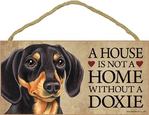 A house is not a home without Dachshund (black and tan) - 5