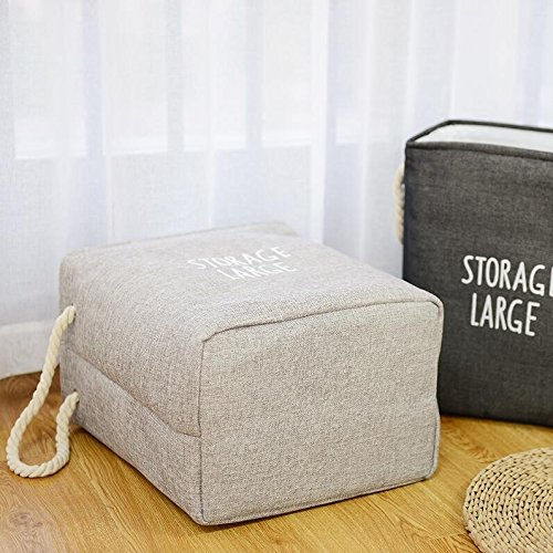 Leoyoubei Double layer Storage Basket Reusable Collapsible Storage Bin Basket [L,M 2-Pack] Storage Cube Bin Set With Handles- Kid's Toy,Dog Toy Storage,Baby Fabric Basket-black For Home Office Closet by Leoyoubei (Image #6)