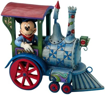 Enesco Disney Traditions by Jim Shore 4016585 Mickey Mouse Driving Train Figurine 7-1 2-Inch