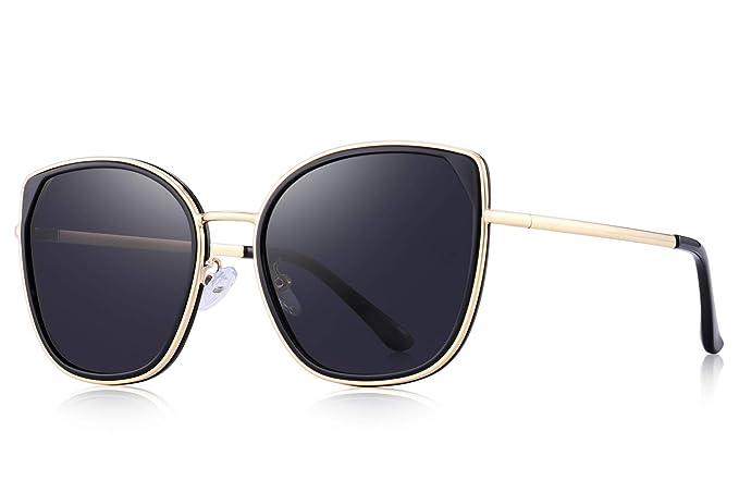Amazon.com: Gafas de sol polarizadas Ojo de gato para mujer ...
