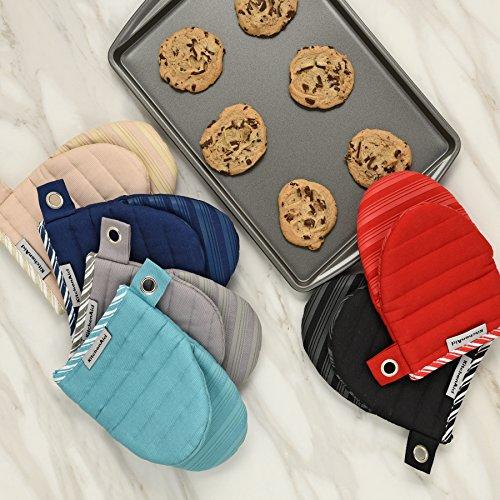 KitchenAid Silicone Mini Mitt Oven, ONE Size, Aqua by KitchenAid (Image #2)