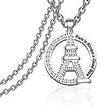 Paris Necklace Eiffel Tower Necklace Paris France
