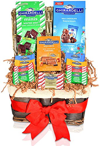Christmas Ghirardelli Gift Basket - Chocolate Gift Variety Pack - Christmas Gifts for Family, Friends, Him, Her (Most Popular Gift Baskets)