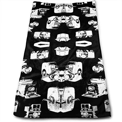 Brocade Black Camera Bag - Vintage Cameras Black 100% Cotton, Fade Resistant, Highly Absorbent, Machine Washable, Hotel Quality, Soft Absorbent Towel