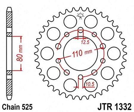 JT Sprockets JTR1332.44 44T Steel Rear Sprocket