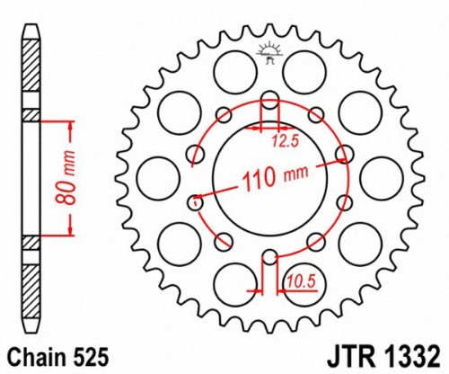 JT Sprockets JTR1332.41 41T Steel Rear Sprocket by JT Sprockets (Image #1)
