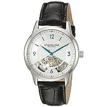 Stuhrling Original Men's 977.01 Legacy Analog Display Mechanical Hand Wind Black Watch