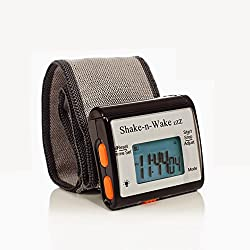 Silent Vibrating Personal Alarm Clock Shake-N-Wake (Black, 1 Alarm Clock)