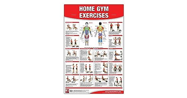 Amazon.com: Cartel de ejercicios de gimnasio en casa, cartel ...