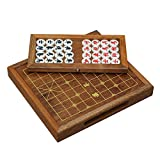 Chinese Chess Wooden 32Pcs / Set of Old Game International Checkers Folding Toy Gifts, Removable