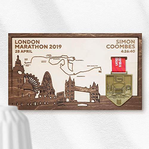 London Marathon Medal Frame