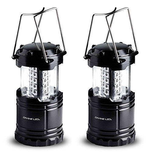 2 Pack LED Lantern Flashlights - Camping Lantern - Collapses - Suitable for: Hiking, Camping, Emergencies - Lightweight
