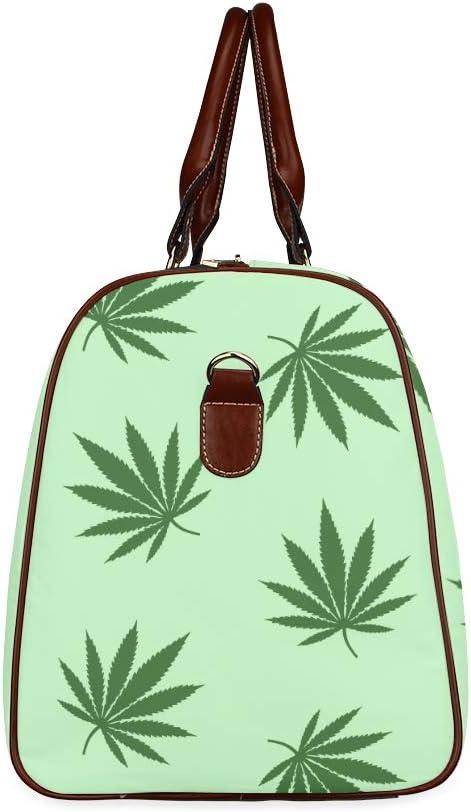 Trousse de maquillage pour femmes Feuilles de cannabis La marijuana Sac de voyage Vintage