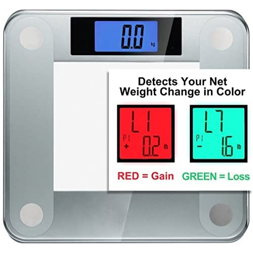 Ozeri Precision II 440 lbs (200 kg) Bath Scale with 50 gram Sensor Technology (0.1 lbs / 0.05 kg) & Weight Change...