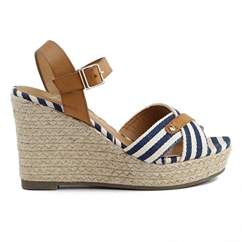 Schuhe keilabsatz für Damen REFRESH 62088 TEX NAVY