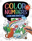 Color by Numbers For Kids Ages 4-8: Dinosaur, Sea