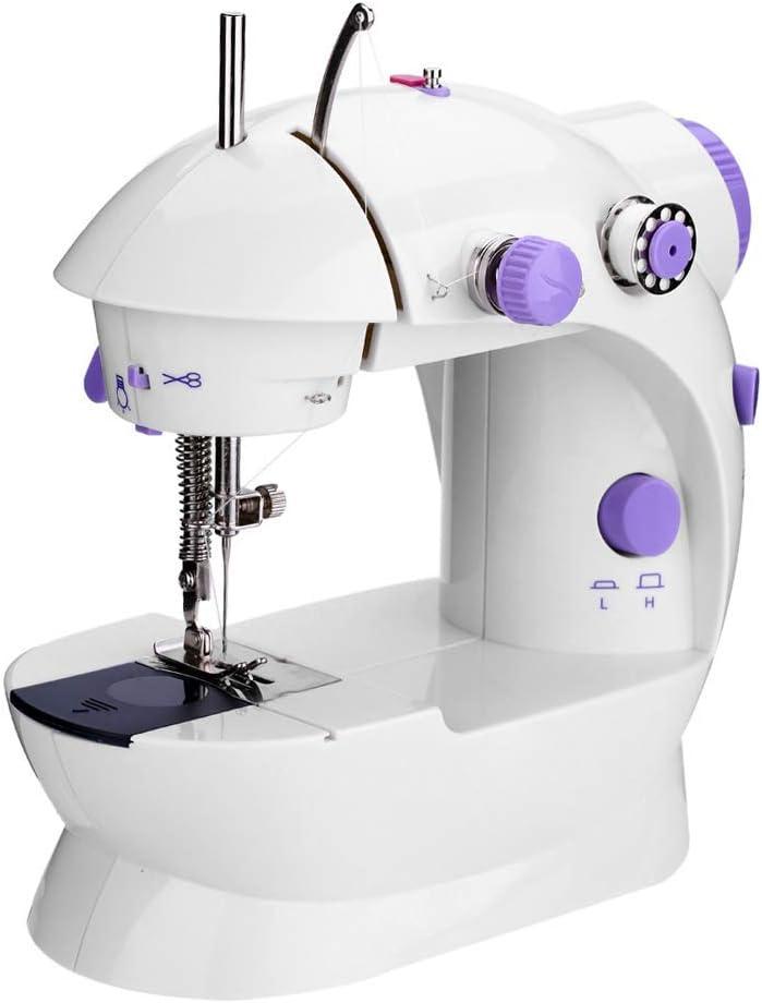 QIN.J.FANG Mini Máquinas De Coser De Doble Velocidad De Doble Hilo Multifunción Eléctrica Mini Banda De Rodadura Automática De Rebobinado De La Máquina De Coser,110V: Amazon.es: Hogar