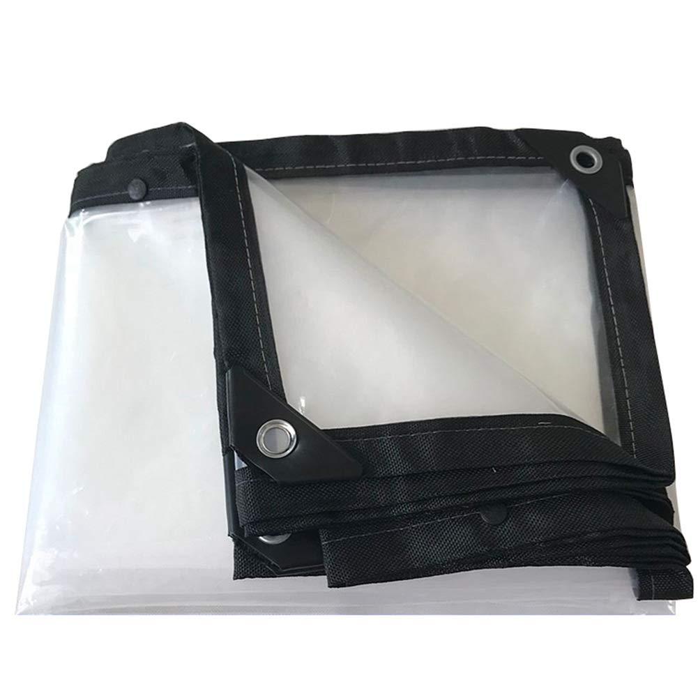 2MX7M  GZW001 Feuille de bÂche Bonne Transparence avec Oeillets Pare-Vent en Plastique imperméable, Clair, Tailles Multiples, Personnalisable