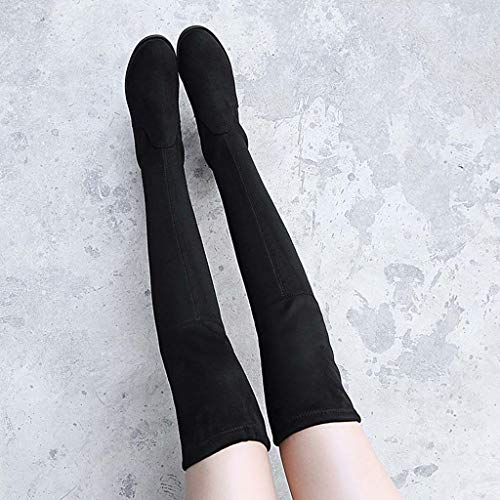 Fond Plat Augmenté Bottes thin 38 Yalanda Au Des Thick À Femmes 2018 D'hiver L'intérieur Bottes De Haut Pour dessus Élastique Genou XxYwAFYSaq