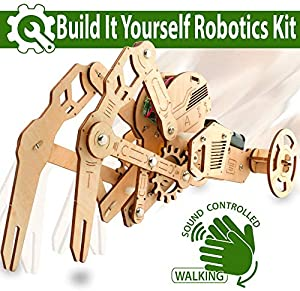Win A Free 3D DIY Walking Robot Kit Mechanical Wooden Puzzle
