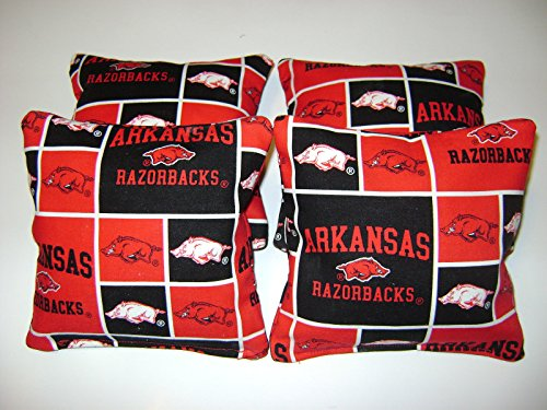 Furniture Outlet Arkansas (4 Cornhole Bean Bag Baggo Corn Hole Arkansas Razorbacks Tailgate Toss)