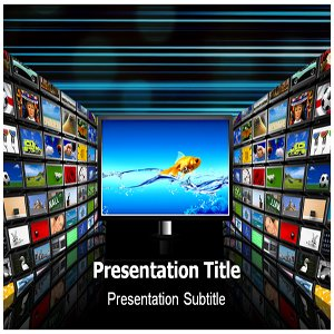 Television Powerpoint (PPT) Template - Television Powerpoint (PPT) Presentation Templates
