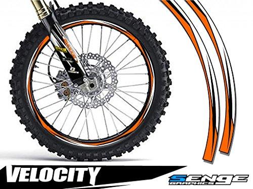 (Senge Graphics Velocity Orange rim protector set for one 18 inch rim and one 21 inch rim)