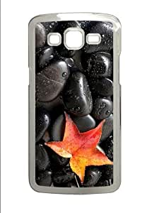 on sale Samsung Gcase black stones leaf PC Transparent case/cover for Samsung Galaxy Grand 2/7106