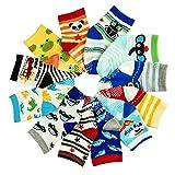 12-36 Months Toddler Girl Boy Socks 12 Pairs Baby Socks Non Skid Slipper Kid Socks Grips 1-3 Years Old Baby