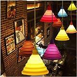 Led Lamp Holder - Decorative Lamp Holder - Folding Lampshade Colorful Silicone E27 Lamp Holder Pendant Lights Ceiling Home Decor (Silicone Lamp Holder)