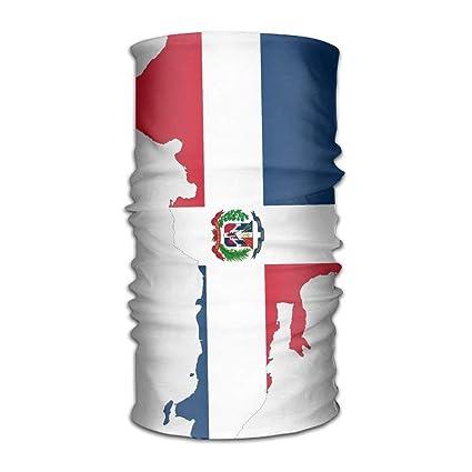 Headband Bandanas Dominican Republic Map Flag Versatile Casual Headwear Neck Gaiter Balaclava Helmet Liner Riding Face Mask for Kids Women Men Outdoors UV Protection