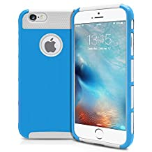 iPhone 6S Case, MagicMobile® Hybrid Protective Case Cover for Apple iPhone 6S (4.7') Shockproof Impact Resistant Rugged Silicone Hard Tough Plastic Thin Armor Case for iPhone 6S [Sky Blue / White]