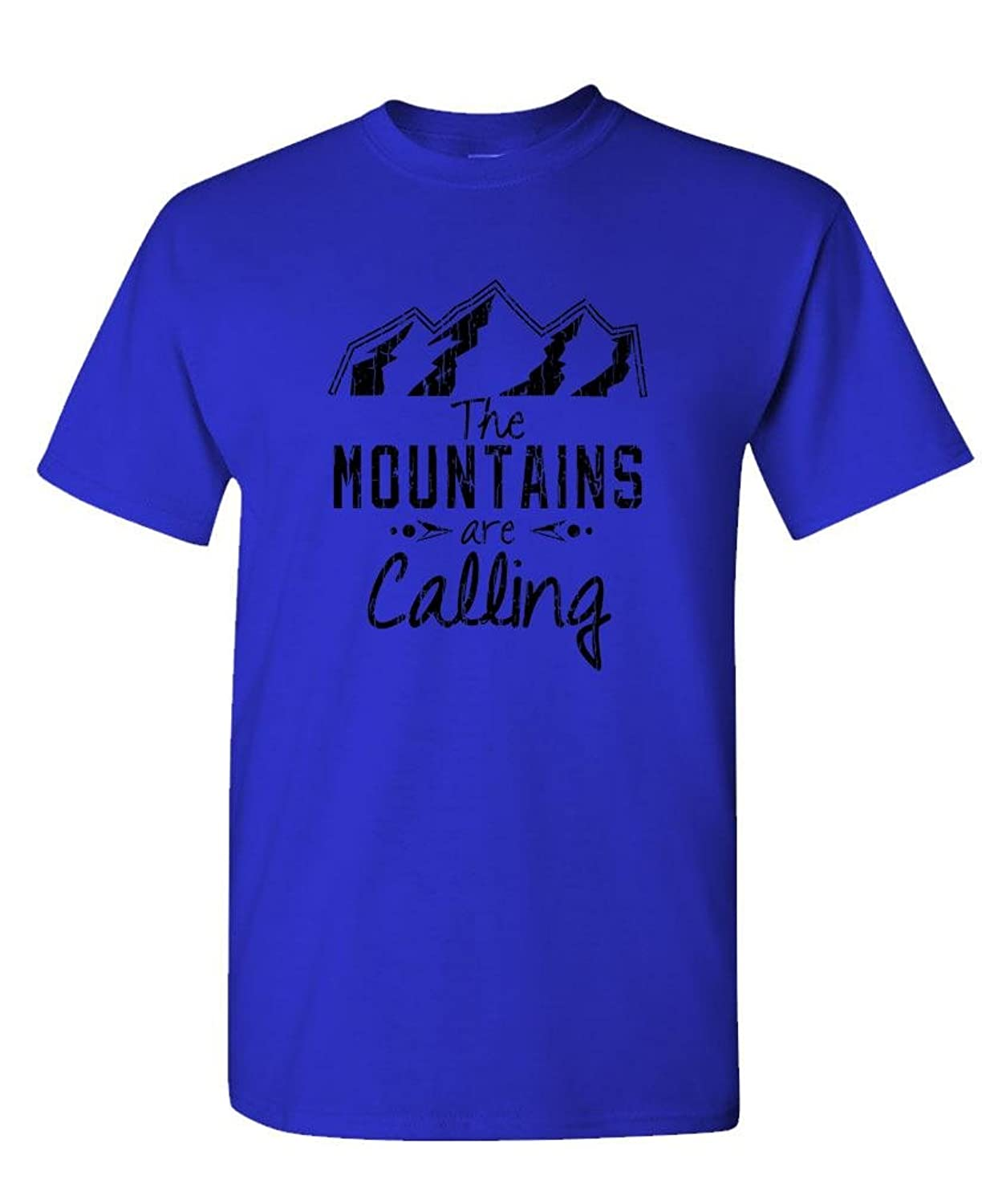 THE MOUNTAINS ARE CALLING - hiking nature - Mens Cotton T-Shirt