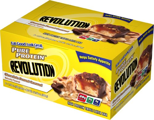 Pure Protein Revolution Chocolate, Peanut Caramel, 6 - 1.76 oz Bars