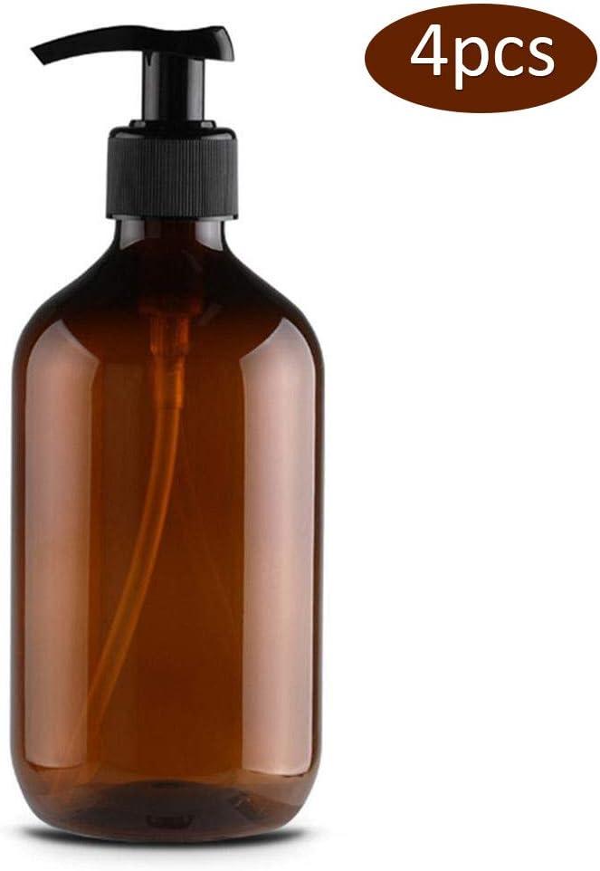 Hihey 4 pcs x 500 ml Botellas dosificadoras de jab/ón Botellas Recargables dispensar lociones champ/ús reciclables
