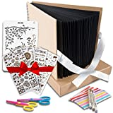 Scrapbook Photo Album DIY Kit – Ideal Wedding Anniversary Book, Family Memory Box w/Accessories - Keep Favorite Memories Alive - 80 Thick Pages, 340 Photos - Scrapbooking Birthday or Graduation Gift