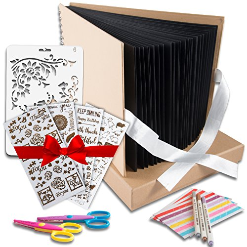 Scrapbook Photo Album DIY Kit,I Deal Wedding, Anniversary Book Family Memory Box w/Accessories - Keep Favorite Memories Alive - 80 Thick Pages, 320 Photos - Scrapbooking Birthday or Graduation Gift