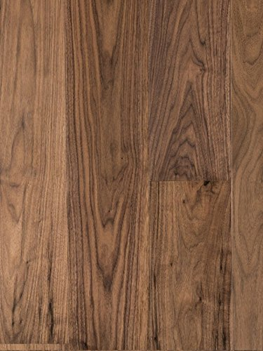 Hardwood Black Walnut Flooring (American Walnut Wood Flooring | Durable, Strong Wear Layer | Engineered Hardwood | Floor SAMPLE by GoHaus)