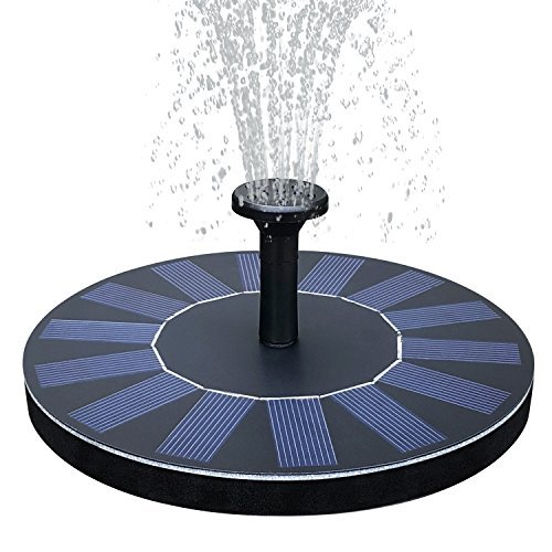 Tranmix Solar Bird Bath Fountain Pump Floating Bird Bath Fountain Water Pumps Kit Outdoor Birdbath Fountains