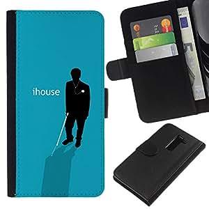 NEECELL GIFT forCITY // Billetera de cuero Caso Cubierta de protección Carcasa / Leather Wallet Case for LG G2 D800 // IHouse Cartel divertido