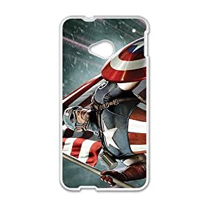 Cheerful America Captain Phone Case for HTC One M7 by ruishername