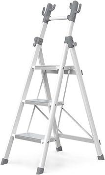 Escalera plegable taburete banqueta Escalera liviana para cocina Balcón Tienda interior para el hogar, Escalera de aluminio de ahorro de espacio con pasamanos, para adultos mayores, niños, carga 150 k: Amazon.es: Bricolaje