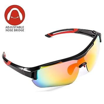 Gafas de Sol Deportivas,CrazyFire UV 400 Protección Gafas Deportivas Polarizadas con 5 Set De Lentes Intercambiables para Hombre Mujer: Amazon.es: Deportes ...