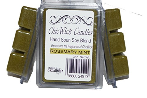 ChicWick Candles 3Pack Rosemary Mint Soy Blend Wax Melts 9oz 18 Wax Cubes Wax Tarts Wax Chunks, 100 Plus Hours of Quality Fragrance