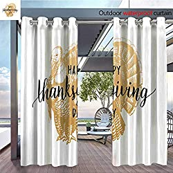Outdoor- Free Standing Outdoor Privacy Curtain Thanksgiving-Day-lettering-with-festive-turkey-illustration--Vector-invitation-or-holiday-greeting-card-template-2.jpg for Front Porch Covered Patio Ga