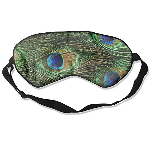 Peacock Feathers Seamless Print Eye Mask 100% Shading (Peacock Eye Mask)