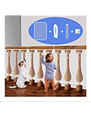 Stair Rail Net for Baby Safety, Balcony Guard for Child Proofing, Banister Guard Mesh for Pets Indoor (White, L10xW3 Ft)